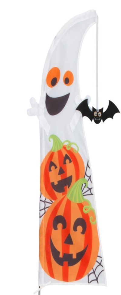 Ghost Halloween Feather Flag 64in Party City