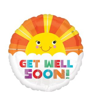 Get Well Soon Balloon - Sunshine