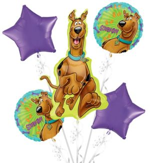 Happy Birthday Scooby-Doo Balloon Bouquet 5pc