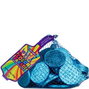 Caribbean Blue Chocolate Coins 72pc