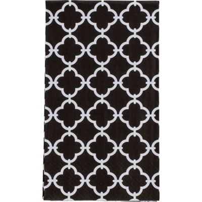 Black & White Moroccan Guest Towels 16ct