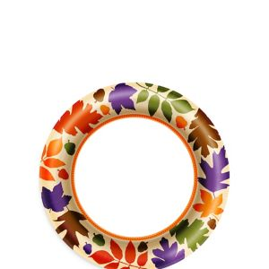 Autumn Warmth Dessert Plates 40ct