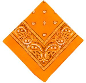Black Light Neon Orange Bandana