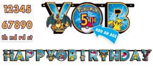 Pokemon Birthday Banner