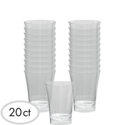 CLEAR Plastic Shot Glasses 20ct