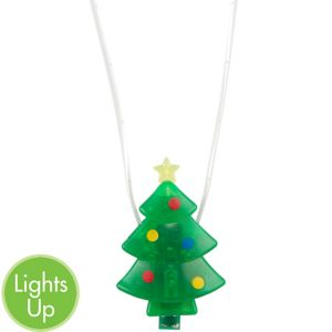 Light-Up Christmas Tree Necklace