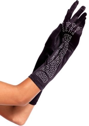 Adult Long Rhinestone Skeleton Gloves