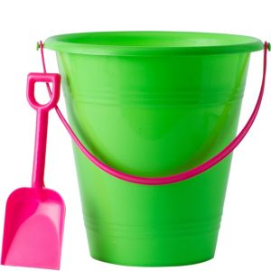 Kiwi Green Pail with Shovel