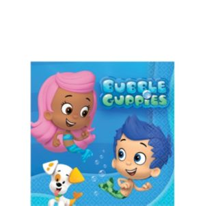 Bubble Guppies Beverage Napkins 16ct