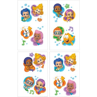 Bubble Guppies Tattoos 1 Sheet