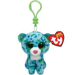 Clip-On Leona Beanie Boo Cat Plush