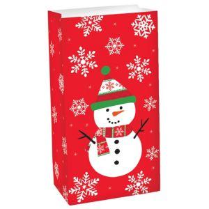Snowman Paper Favor Bag