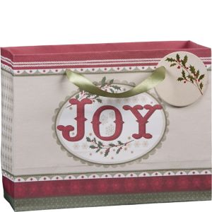 Small Joy & Holly Kraft Gift Bag