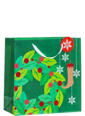 Glitter Christmas Wreath Christmas Gift Bag