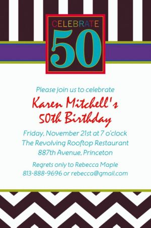 Custom 50th Celebration Invitations