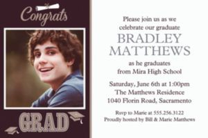 Custom Graduating Class Photo Invitations
