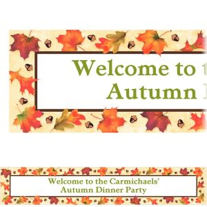 Custom Autumn Day Banner 6ft