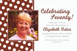 Custom Chocolate Brown Polka Dot Photo Invitations