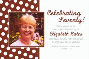 Custom Chocolate Brown Polka Dot Photo Invitations