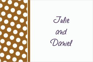 Custom Gold Polka Dot Thank You Notes