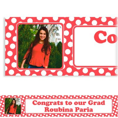 Red Polka Dot Custom Photo Banner