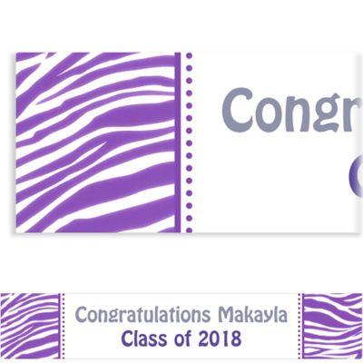 Purple Zebra Custom Banner