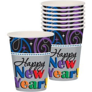 Cheers New Year's Cups 8ct