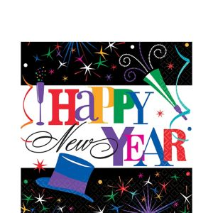 Ring in the Year New Year's Lunch Napkins 125ct