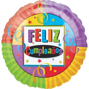 Feliz Cumpleanos Balloon - Bright