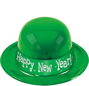 Green Happy New Year Derby Hat