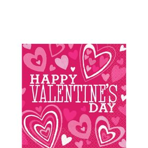 Bright Valentine's Day Beverage Napkins 36ct