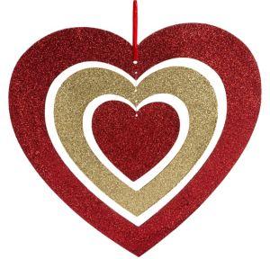 Glitter Spinning Heart
