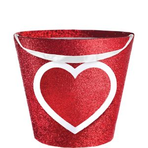 Glitter Heart Treat Bucket