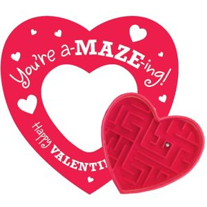 Valentine Cards with Maze Puzzles 12ct