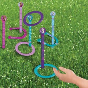 Frozen Ring Toss & Horseshoes Game 13pc