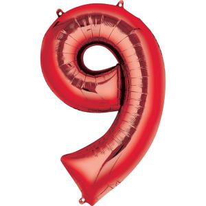 Giant Red Number 9 Balloon