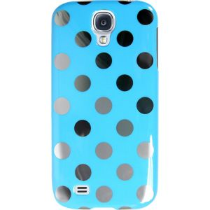 Silver Dot Blue Phone Case for Galaxy S4