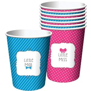 Little Man, Little Miss Gender Reveal Cups 8ct