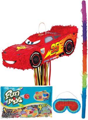 Pull String Lightning McQueen Pinata Kit
