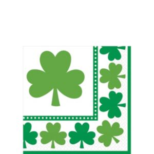 Lucky Shamrock Beverage Napkins 16ct