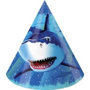 Shark Party Hats 8ct