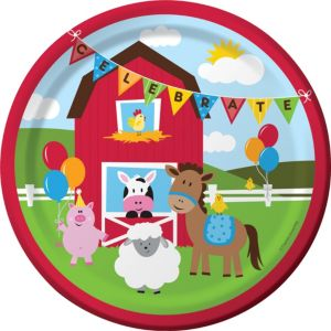 Farmhouse Fun Lunch Plates 8ct