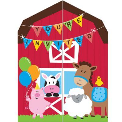 Farmhouse Fun Invitations 8ct