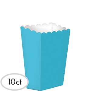 Caribbean Blue Popcorn Treat Boxes 10ct