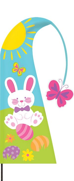 Easter Bunny Feather Flag