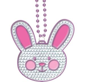 Easter Bunny Rhinestone Necklace