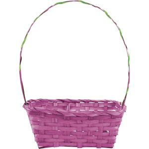 Purple Bamboo Easter Basket