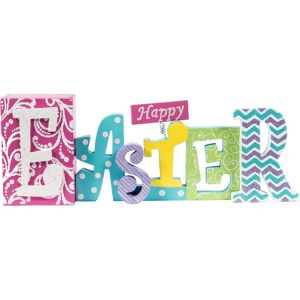 Happy Easter Block Letter Sign