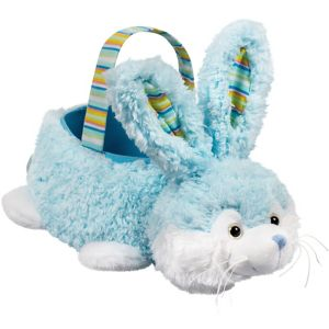 Plush Blue Bunny Easter Basket