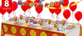 Firefighter Super Party Kit for 8 Guests